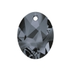 Swarovski Pendant 6911 Kaputt Oval 26mm Silver Night Crystal